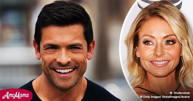 Kelly Ripa's husband Mark shares a stunning photo of his wife in a patterned pink bikini
