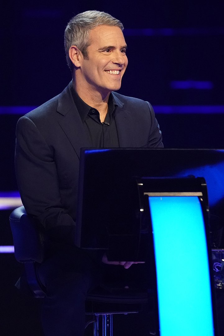 """Andy Cohen as a guest on """"Who Wants To Be A Millionaire"""" in March 2020. I Image: Getty Images."""
