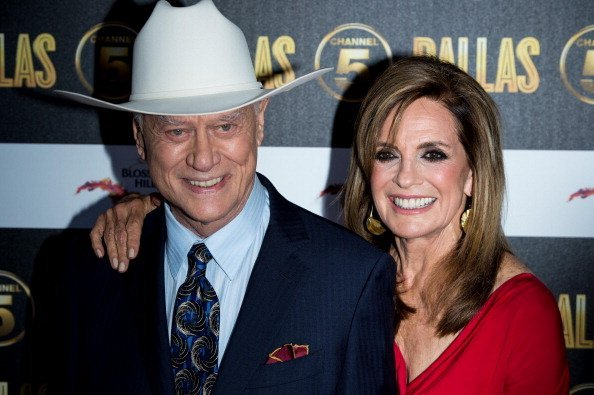 Larry Hagman and Linda Grey / Photo: Getty Images
