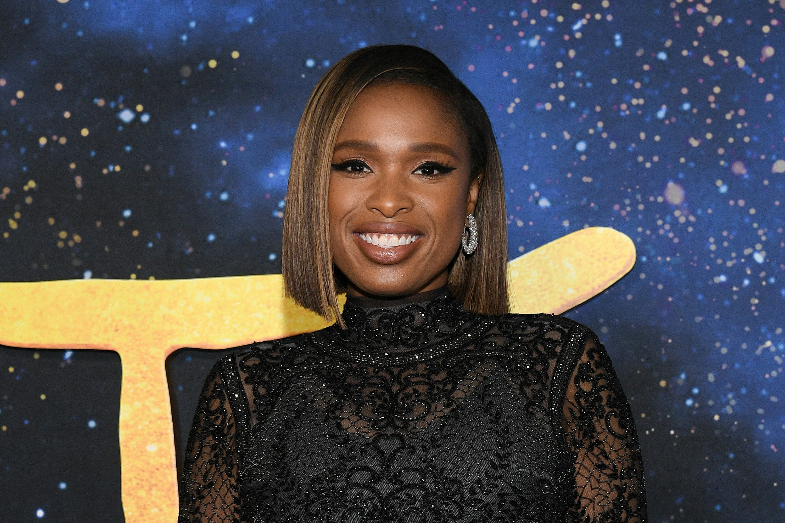"""Jennifer Hudson at the """"Cats"""" world premiere at Alice Tully Hall, Lincoln Center on December 16, 2019 in New York City.