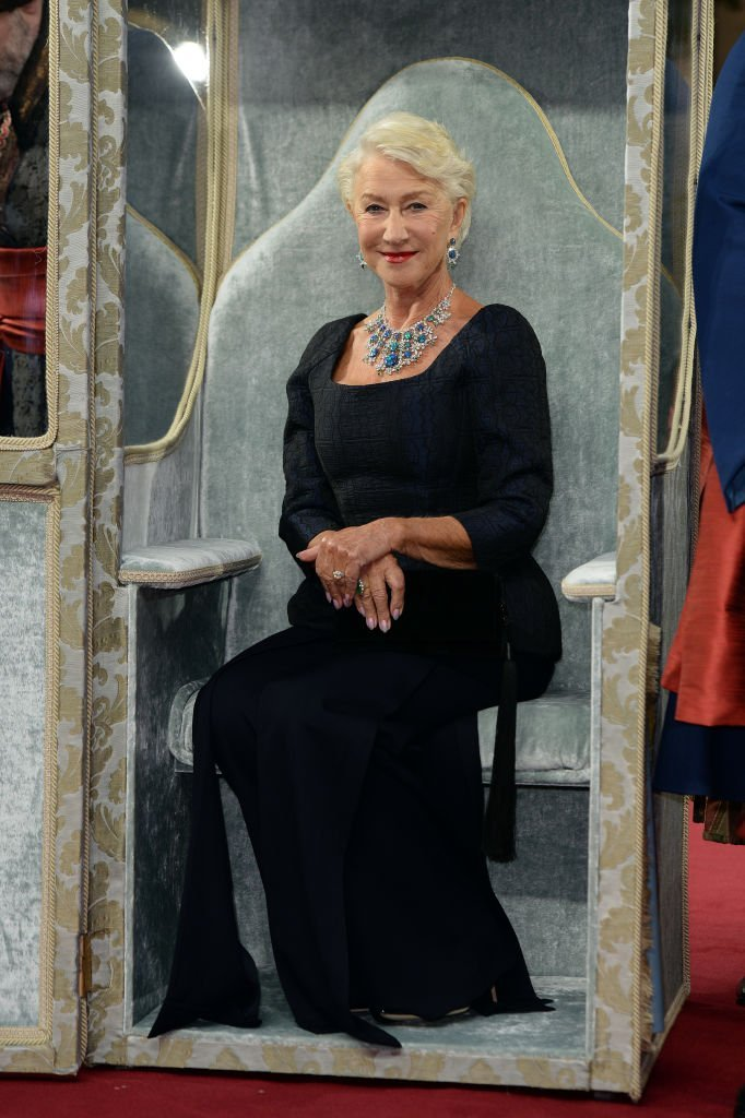 """Dame Helen Mirren attends the """"Catherine The Great"""" UK TV Premiere at The Curzon Mayfair. 
