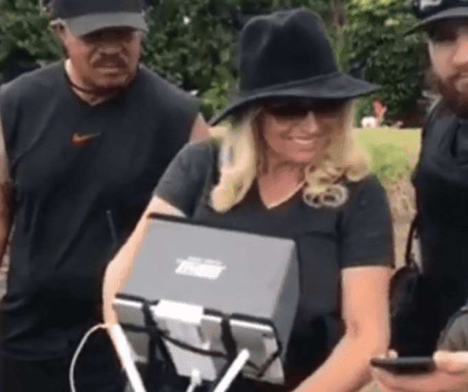 Beth Chapman flying a drone | Instagram: @kylexsteven