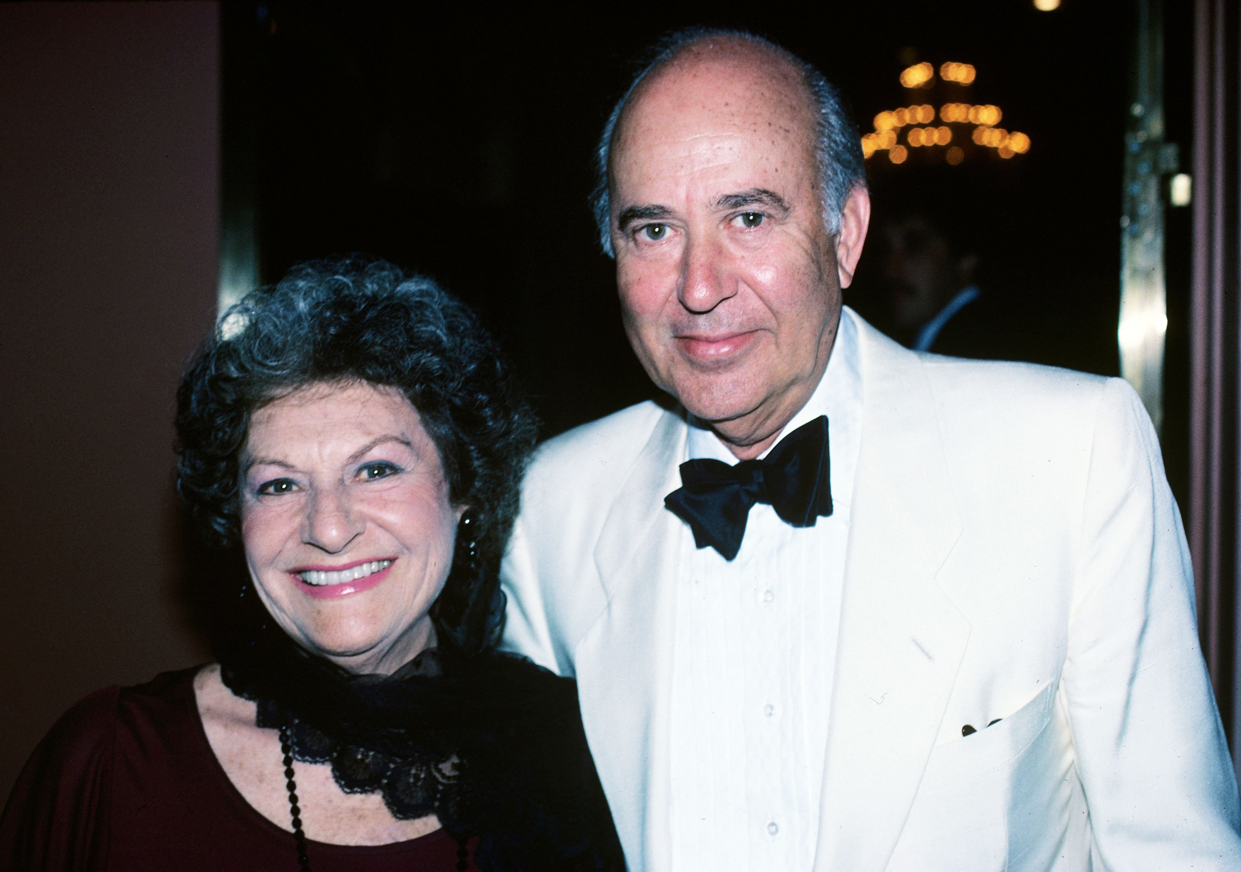 Carl Reiner & wife Estelle Lebost in 1984 in New York City | Source: Getty Images