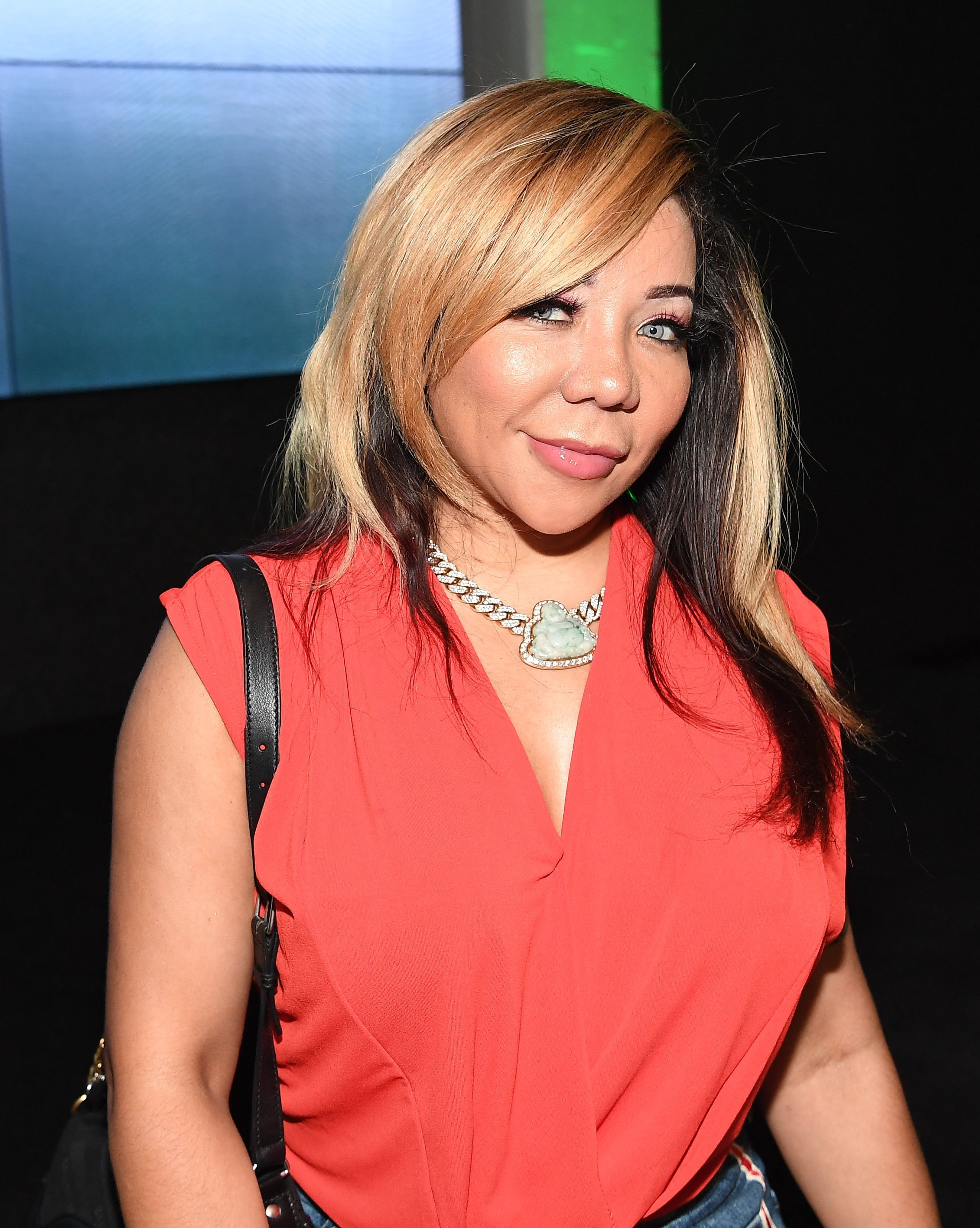 """Tiny Harris attending the viewing party of """"The Grand Hustle"""" in July 2018. 