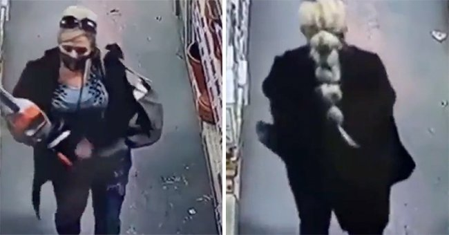 Woman Tries to Hide Chainsaw in Her Clothes at a Store in Apparent Shoplifting Attempt