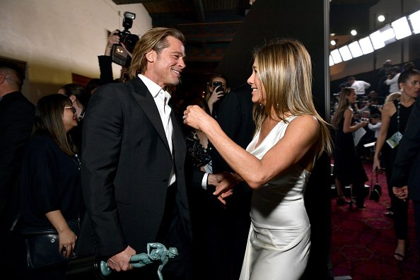 Brad Pitt and Jennifer Aniston at the 26th Annual Screen Actors Guild Awards on January 19, 2020 in Los Angeles, California. | Photo: Getty Images