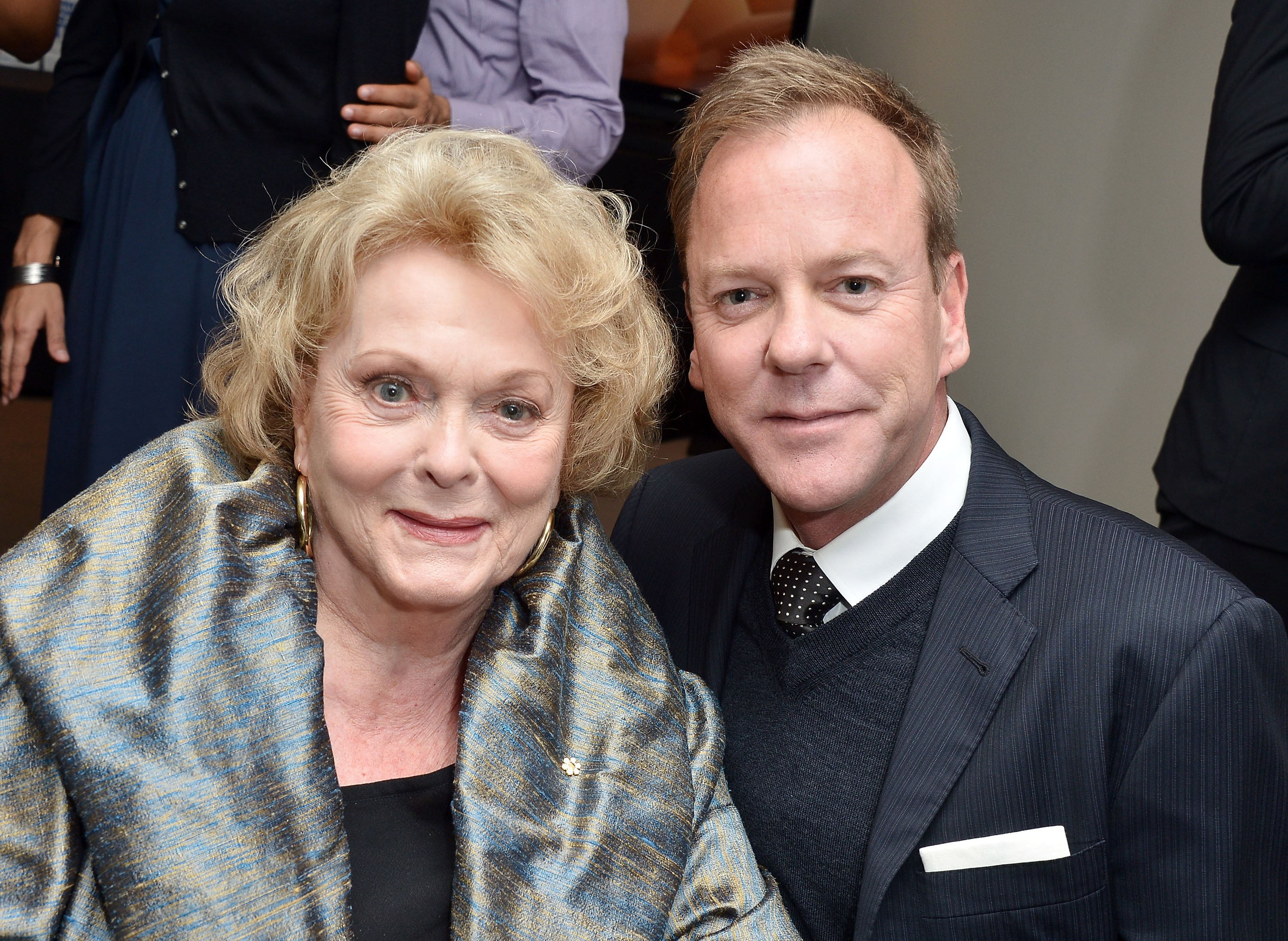 """Kiefer Sutherland and Shirley Douglas attend """"The Reluctant Fundamentalist"""" premiere during the 2012 Toronto International Film Festival on September 8, 2012 in Toronto, Canada 