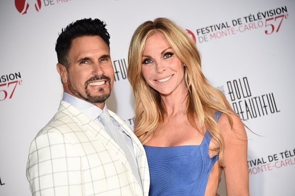 Don Diamont and Cindy Ambuehl attend the 'The Bold and The Beautiful' 30th Anniversary during the 57th Monte Carlo TV Festival : Day 3 in Monte-Carlo, Monaco. | Photo: Getty Images