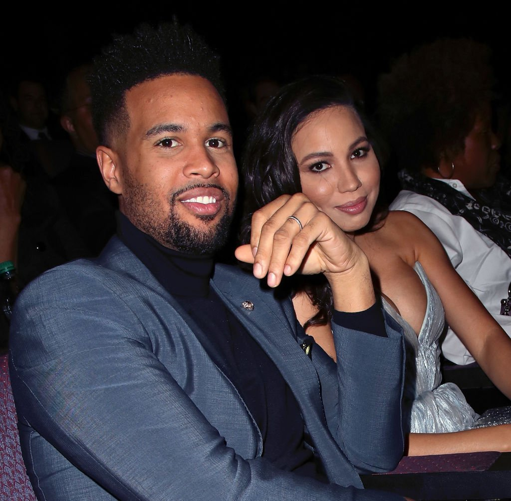 """Josiah Bell and Jurnee Smollett at the premiere of the second season of """"Underground"""" in February 2017. 