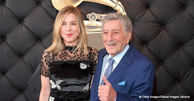 92-year-old Tony Bennett looks fabulous holding the waist of Diana Krall at the Grammy's