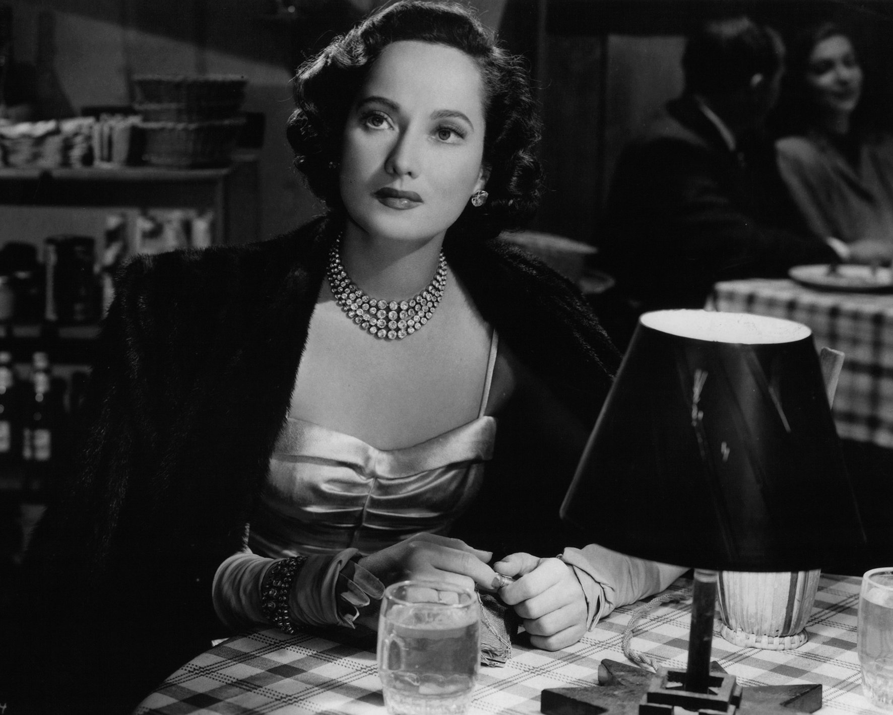 "Merle Oberon in RKO's 1948 movie, ""Night Song"" 