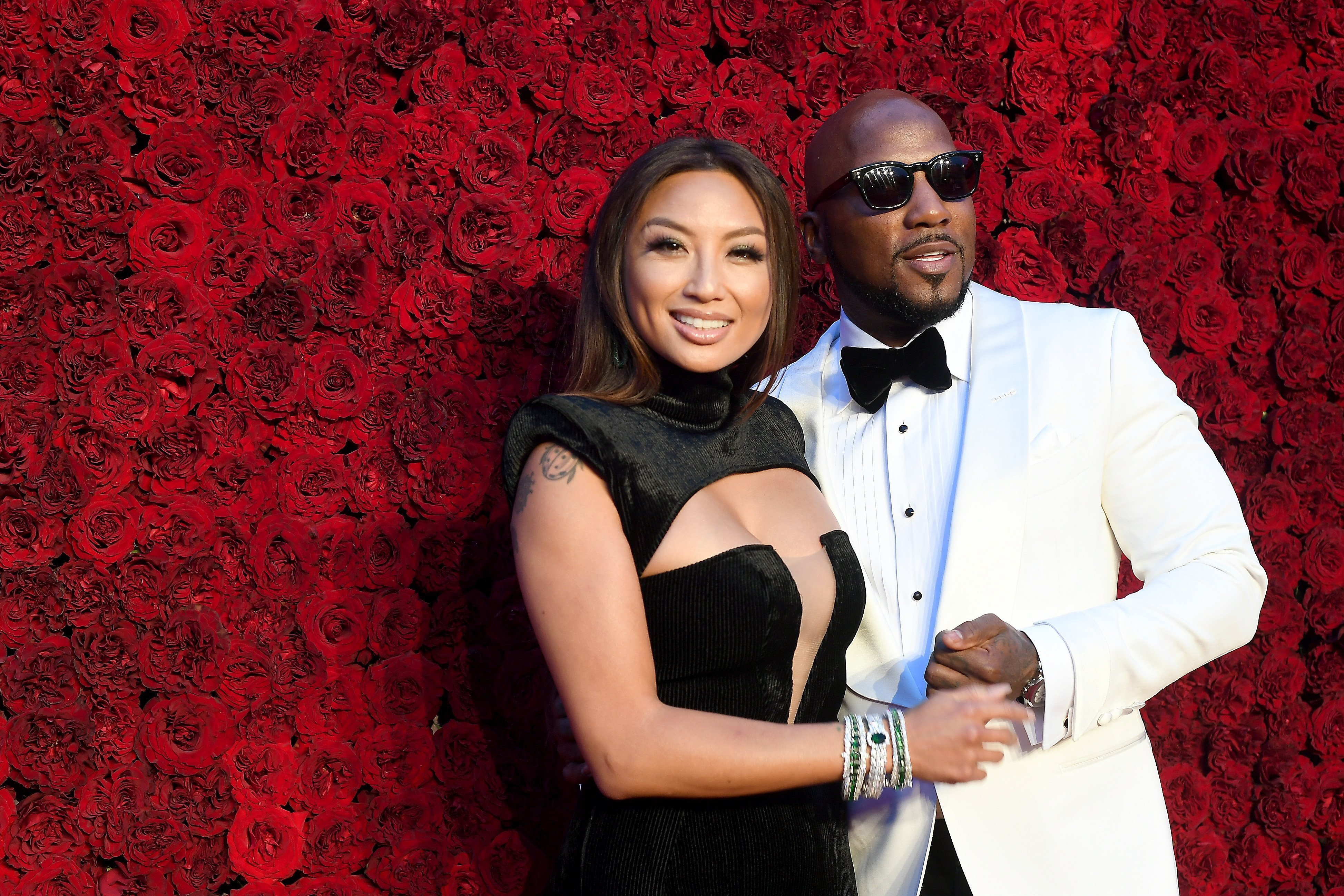 Jeannie Mai and boyfriend, Jeezy at the red carpet during the grand opening of TYler Perry Studios in October 2019.   Photo: Getty Images