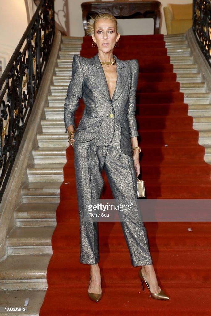 Céline Dion assiste au défilé RVDK Ronald Van Der Kemp Haute Couture Spring-Summer 2019 show dans le cadre de la Paris Fashion Week le 23 janvier 2019, à Paris, France | Photo : Getty Images