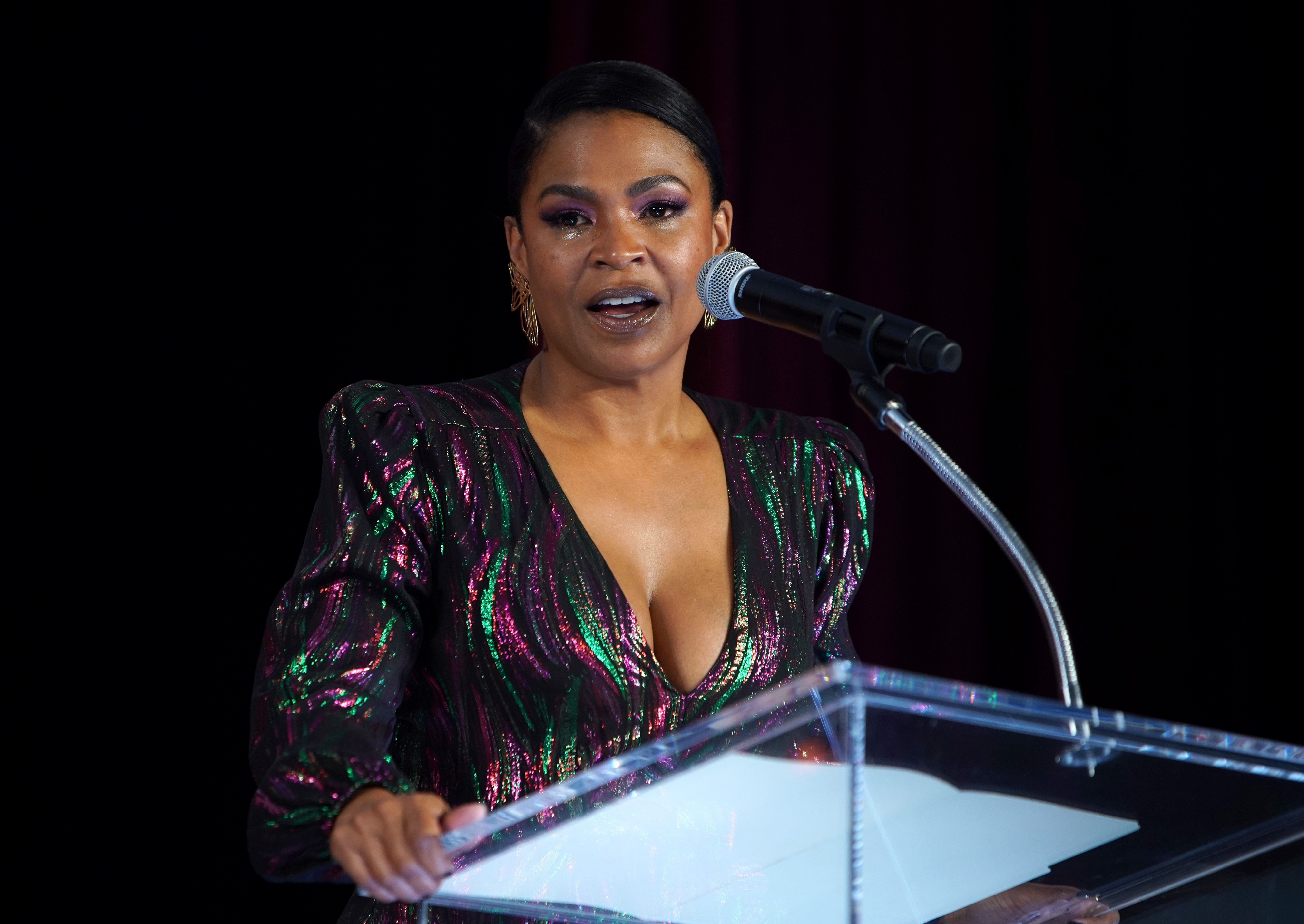 Nia Long speaks at the Celebration of Black Cinema in December 2019 in Los Angeles | Source: Getty Images
