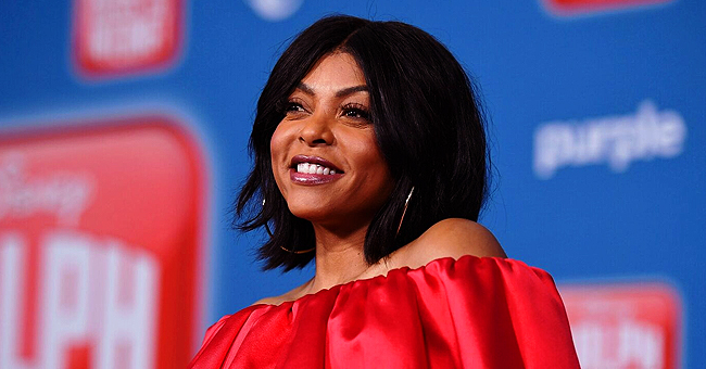 Taraji P Henson Stuns in Burgundy Dress with Slit before Giving Wedding Details on Emmys Red Carpet