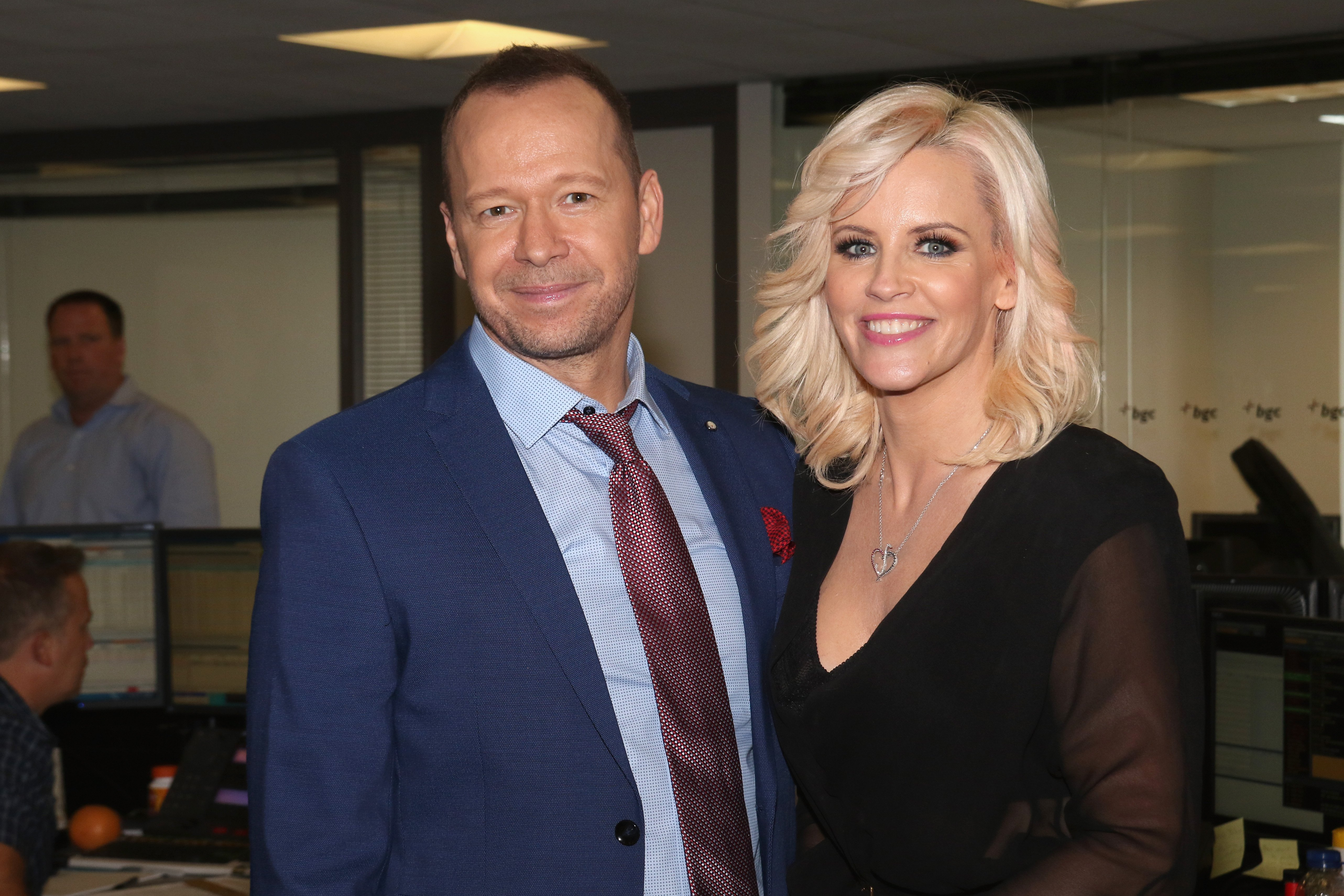 Donnie Wahlberg and Jenny McCarthy attend Annual Charity Day hosted by Cantor Fitzgerald and BGC at BGC Partners, INC on September 11, 2015, in New York City. | Source: Getty Images.