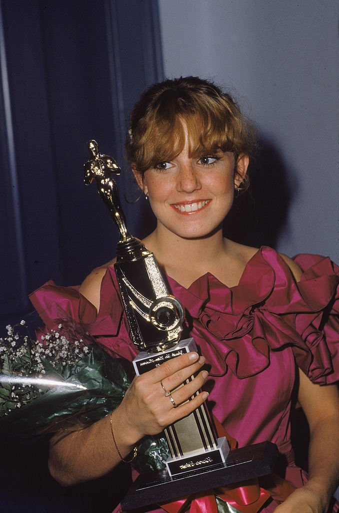 Dana Plato holds her 'Youth in Film' award in the early 1980s   Photo: Getty Images