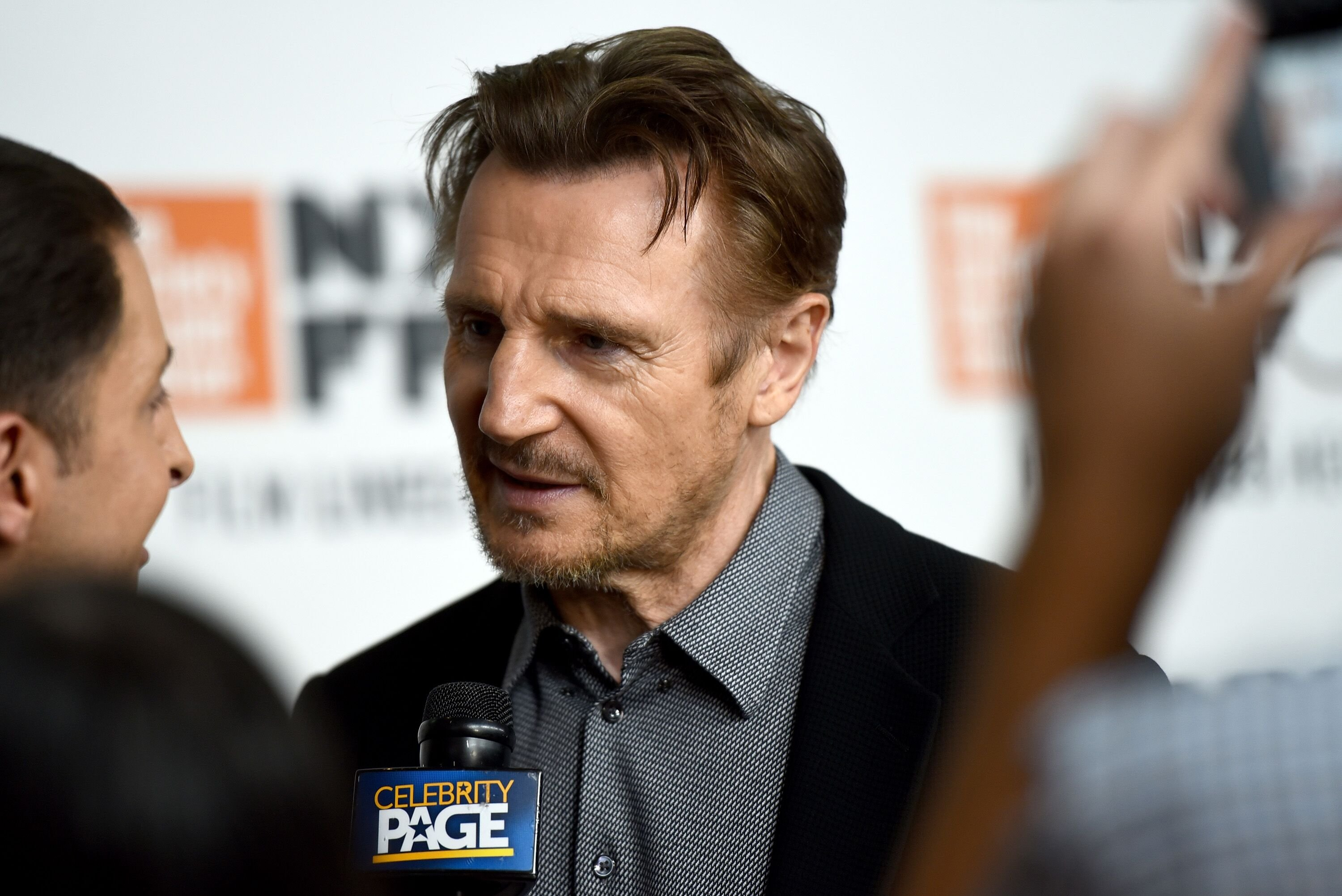"Liam Neeson attends the Netflix's ""The Ballad of Buster Scruggs"" NYFF Red Carpet Premiere. 