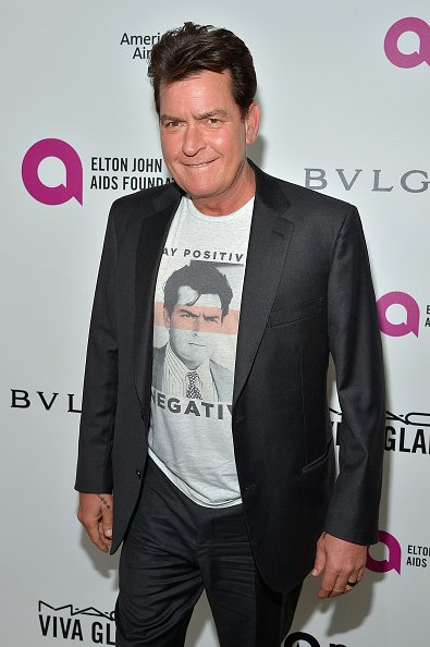 Charlie Sheen attends Neuro at the 24th Annual Elton John AIDS Foundation's Oscar Viewing Party at The City of West Hollywood Park on February 28, 2016, in West Hollywood, California. | Source: Getty Images.