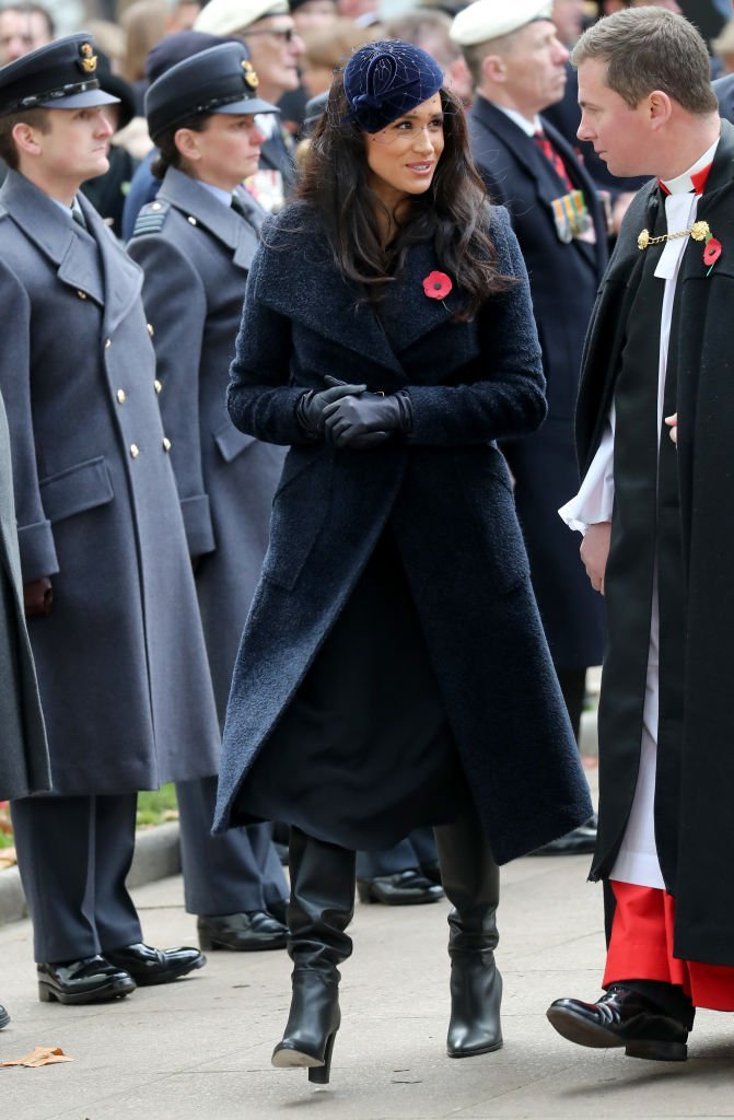 Meghan Markle attends the annual Field of Remembrance in London, England on November 7, 2019. | Photo: Getty Images