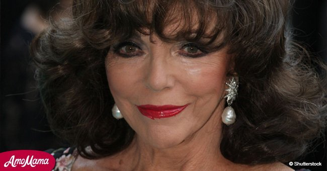 Joan Collins, 85, was attacked by an annoying fan in Saint-Tropez