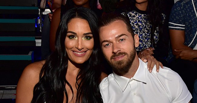 Nikki Bella and Her Fiancé Artem Chigvintsev Share a Sweet Kiss as They Enjoy a Moment Alone