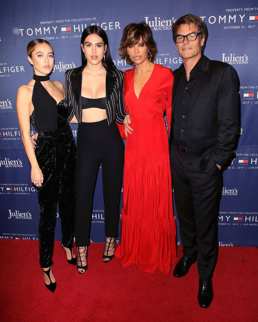 Lisa Rinna, Harry Hamlin and their daughters Amelia Gray and Delilah Belle at Julien's Auctions and Tommy Hilfiger's VIP reception, 2017, Los Angeles, California. | Photo: Getty Images