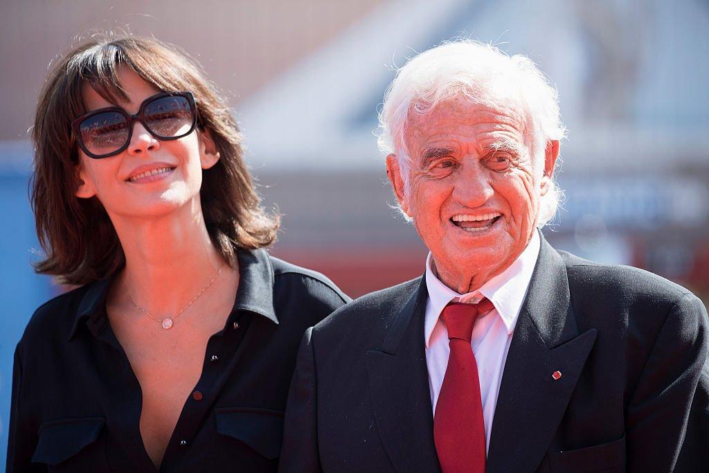 Sophie Marceau y Jean Paul Belmondo en el Festival de Cine de Venecia en Sala Grande el 8 de septiembre de 2016.   Foto: Getty Images
