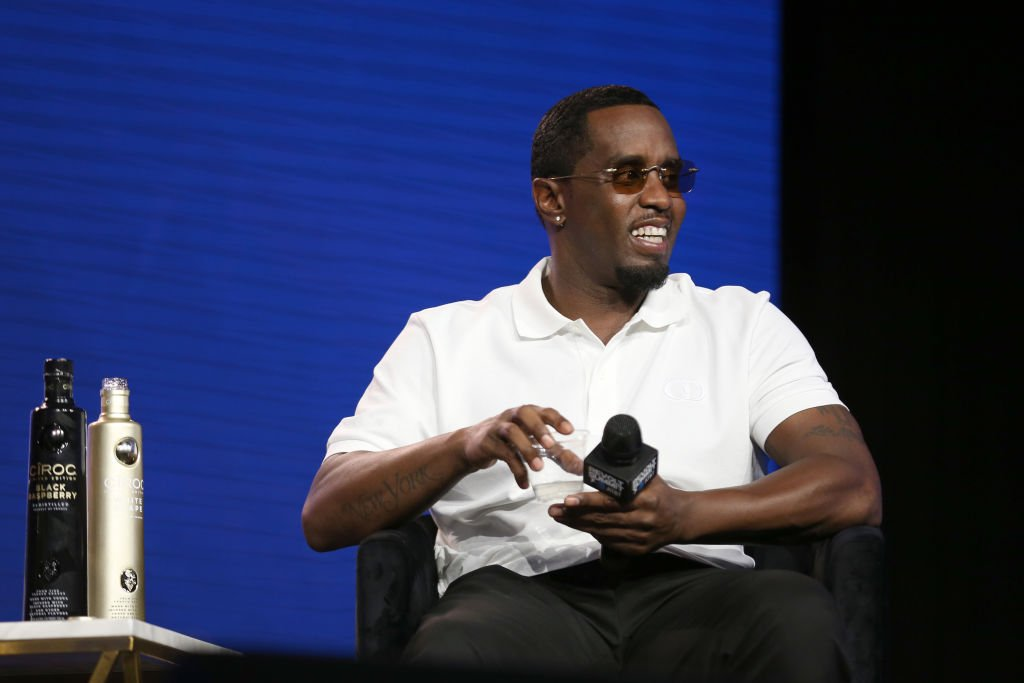 """Diddy"" Combs speaks onstage at the REVOLT X AT&T Host REVOLT Summit In Los Angeles at Magic Box 