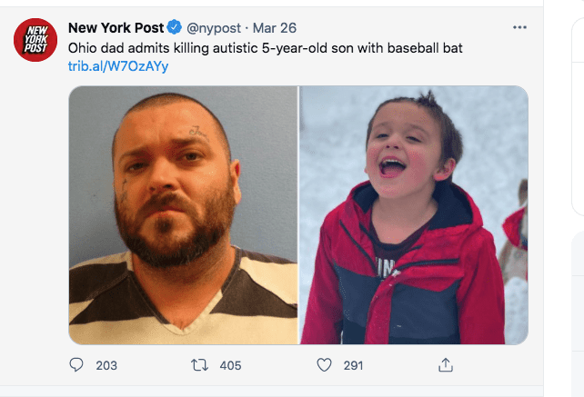 A screenshot of an Ohio dad and his son   Photo: twitter.com/New York Post