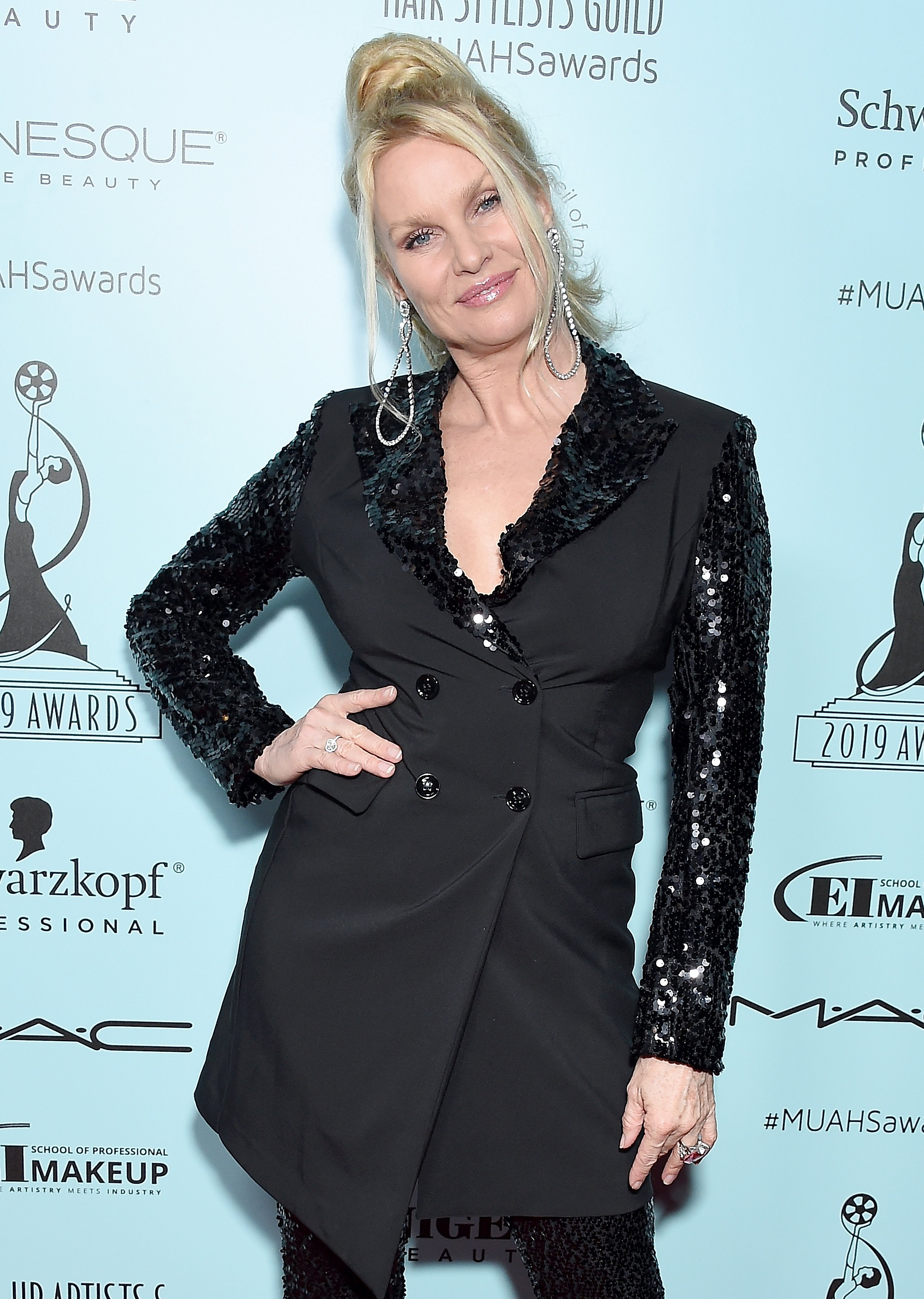 Nicollette Sheridan attends the 6th Annual Make-Up Artists & Hair Stylists Guild Awards at The Novo by Microsoft on February 16, 2019, in Los Angeles, California. | Source: Getty Images.