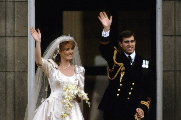 Sarah Ferguson and Prince Andrew at their wedding on July 23, 1986 in London, England | Photo: Getty Images