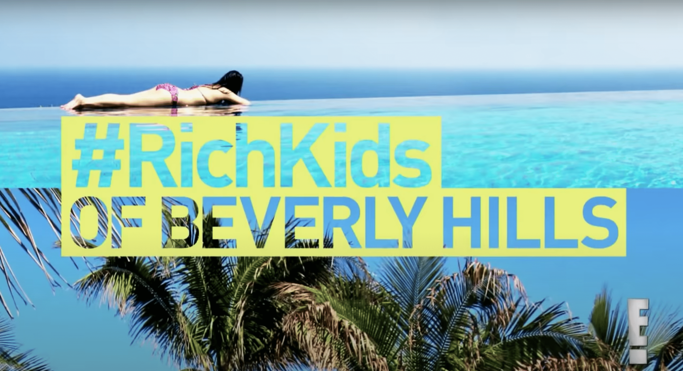 """Screenshot of title image for E!'s """"Rich Kids of Beverly Hills."""" 