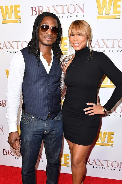 David Adefeso and Tamar Braxton at the premiere of 'Braxton Family Values' | Photo: Getty Images