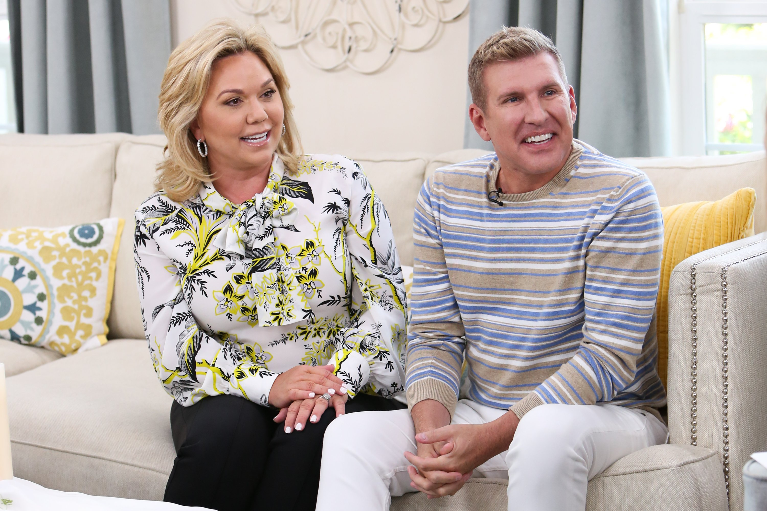 Julie and Todd Chrisley at Hallmark's 'Home & Family' at Universal Studios Hollywood on June 18, 2018 in Universal City, California | Photo: Getty Images