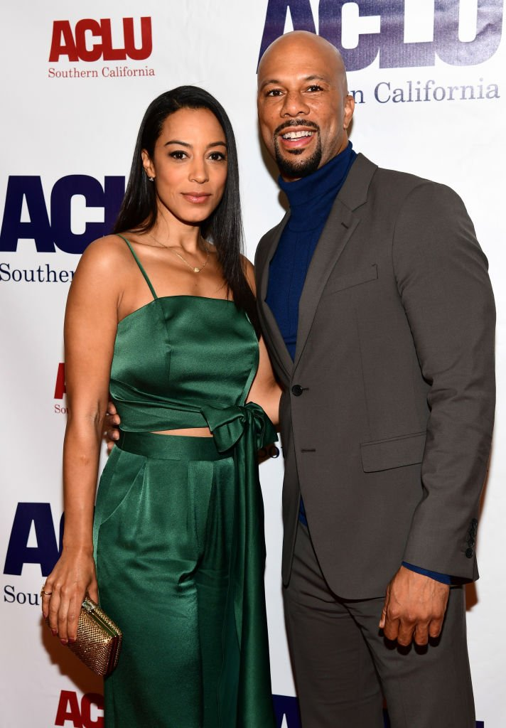 """Common and then-girlfriend Angela Rye attending the """"ACLU SoCal Hosts Annual Bill of Rights Dinner"""" at the Beverly Wilshire Four Seasons Hotel on December 3, 2017 in Beverly Hills. 