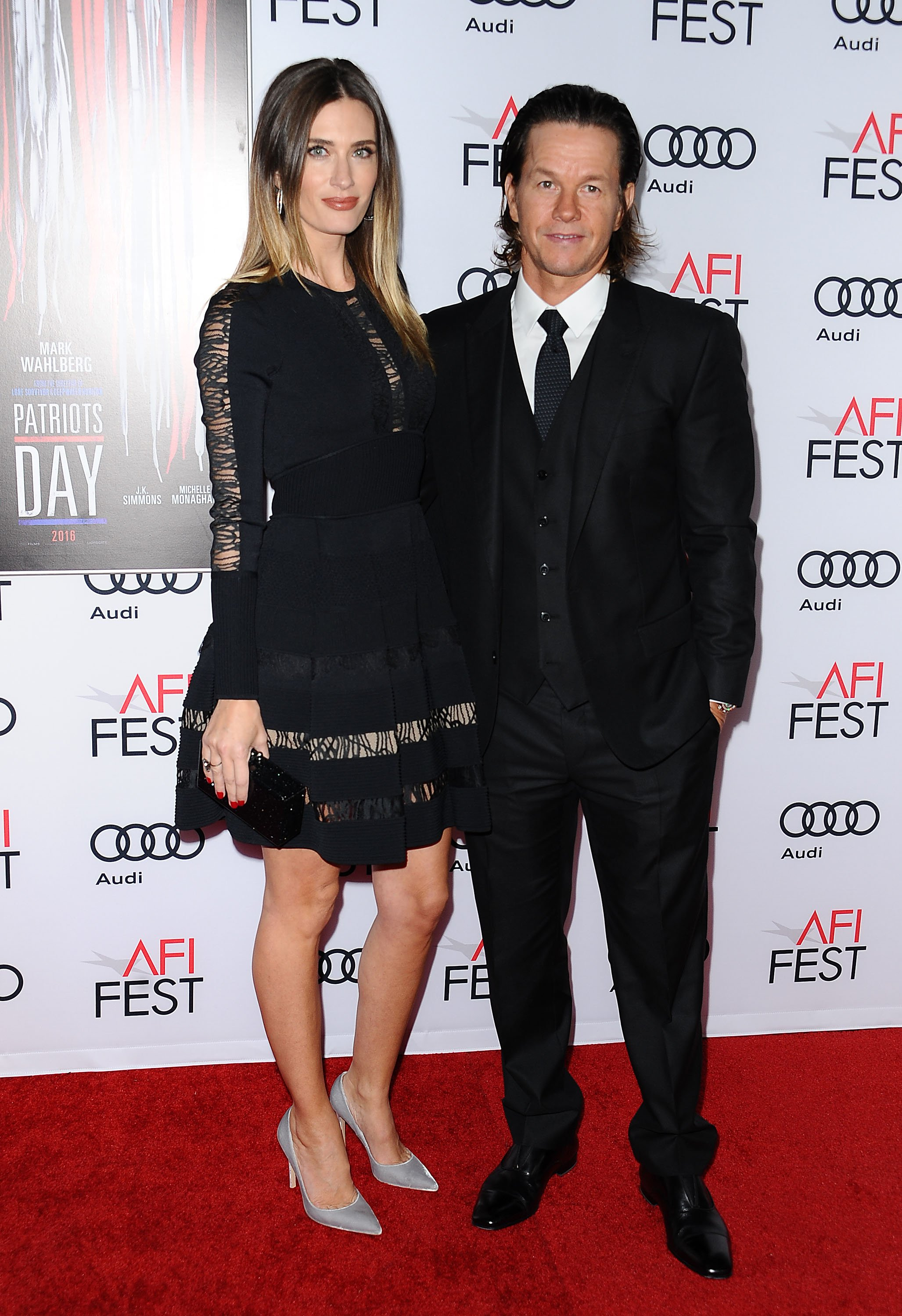 """Mark Wahlberg and wife Rhea Durham attend the closing night gala screening of """"Patriots Day"""" at the 2016 AFI Fest at TCL Chinese Theatre on November 17, 2016 in Hollywood, California.   Source: Getty Images"""