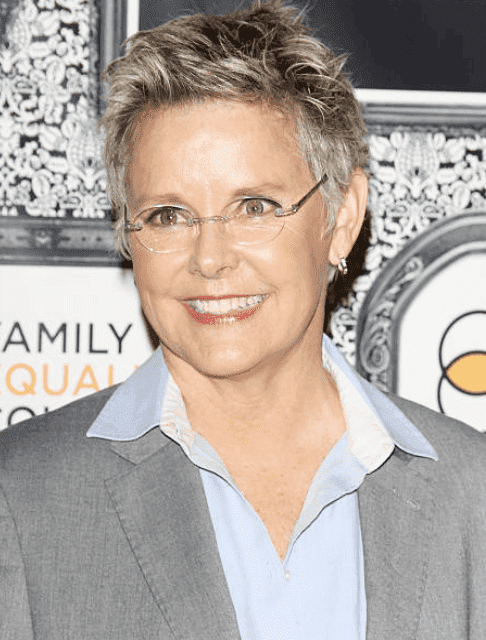 Amanda Bearse poses for cameras at the Family Equality Council's Los Angeles Awards dinner, at The Globe Theatre, on February 8, 2014, in Universal City, California | Source: (Photo by Michael Tran/FilmMagic)