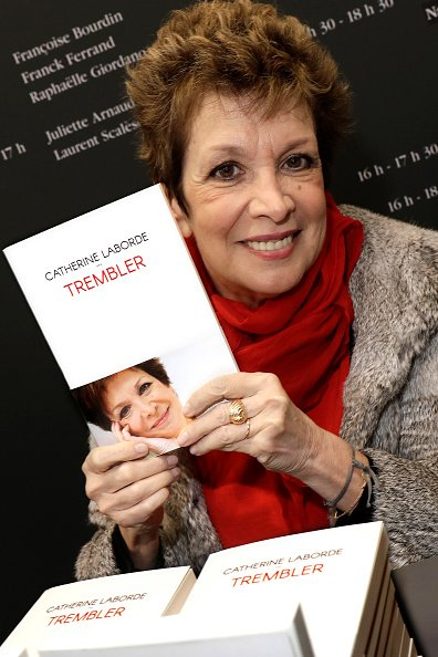 Catherine Laborde pose lors d'une séance de portrait le 17 mars 2019. |Photo : Getty Images