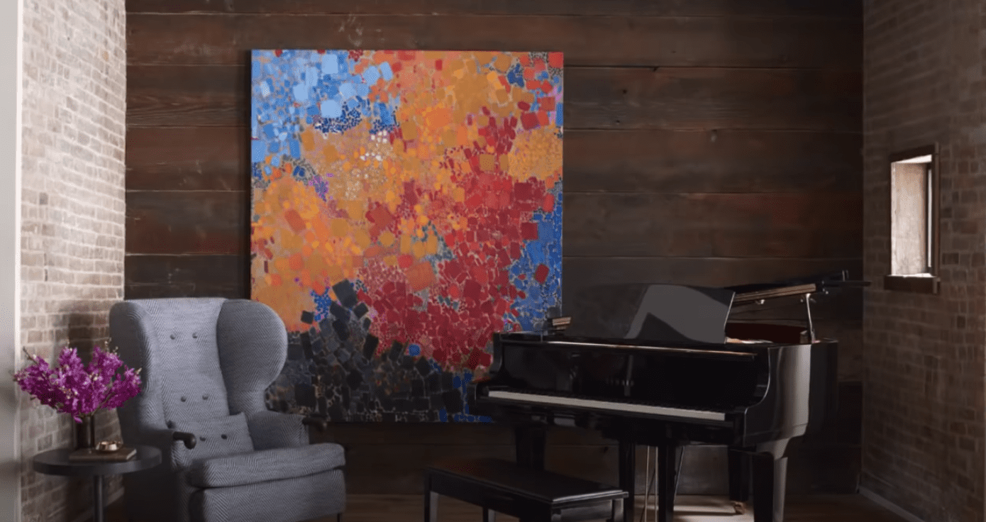 John Legend's piano   Source: YouTube/ Architectural Digest