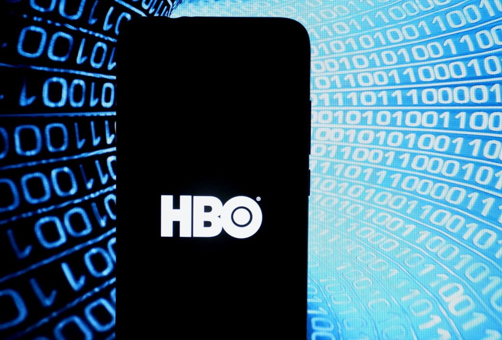 Photo illustration of entertainment company HBO logo as seen displayed on a smartphone.   Photo: Getty Images