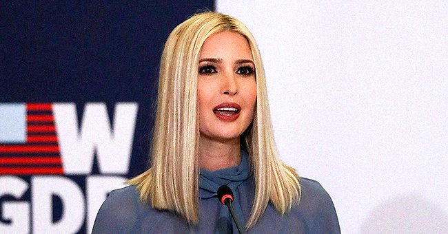 Ivanka Trump Stuns in Flattering Sheer Blue Dress at W-GDP's First Anniversary Event