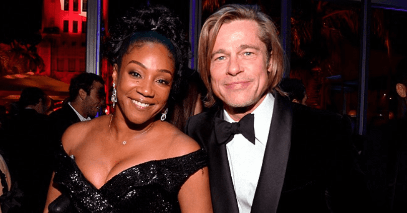 Tiffany Haddish Poses with Brad Pitt after Previously Joking about Being His Backup Plan