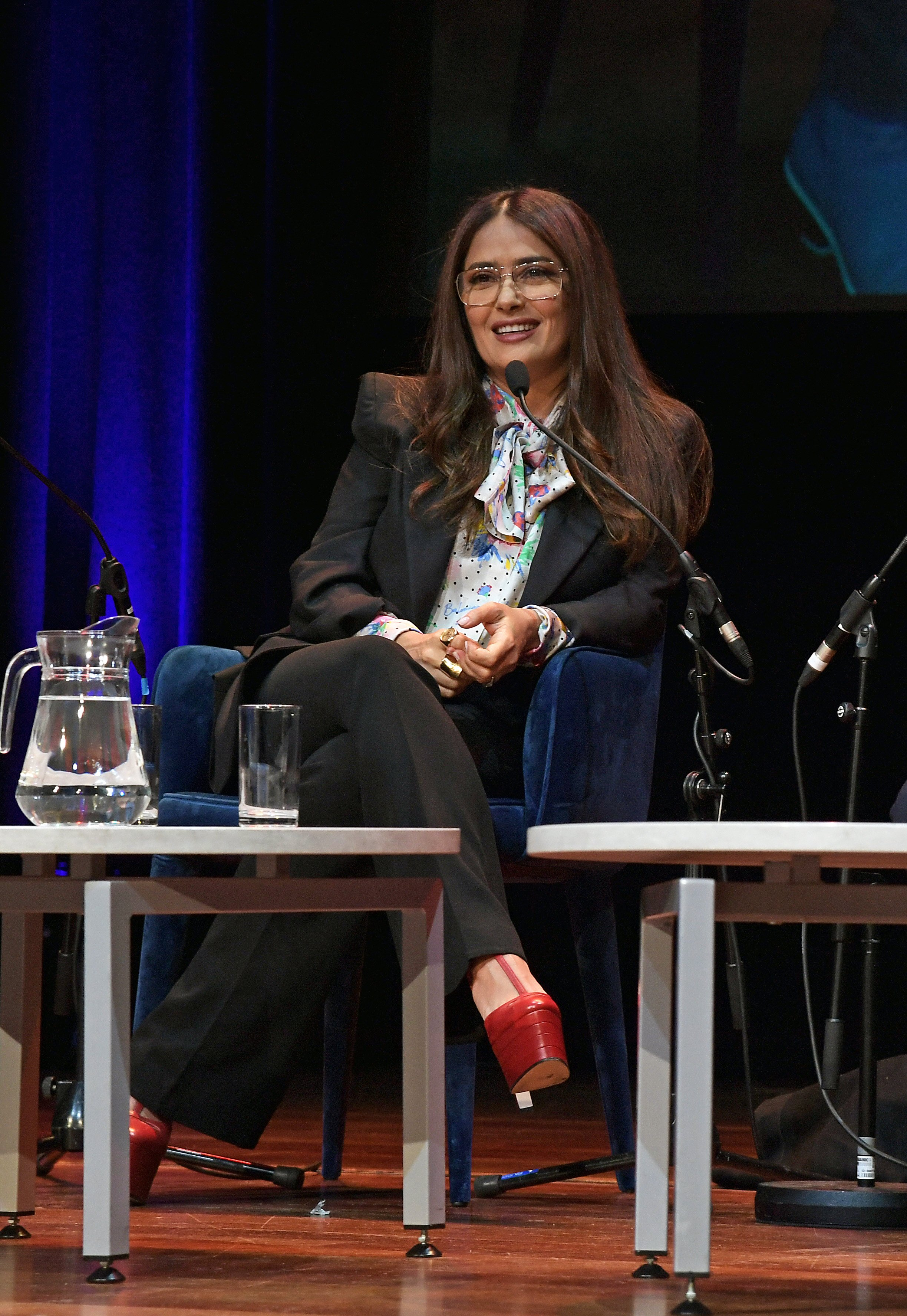 """Salma Hayek participated in the """"Women of The World Festival"""" in London, March, 2020. 