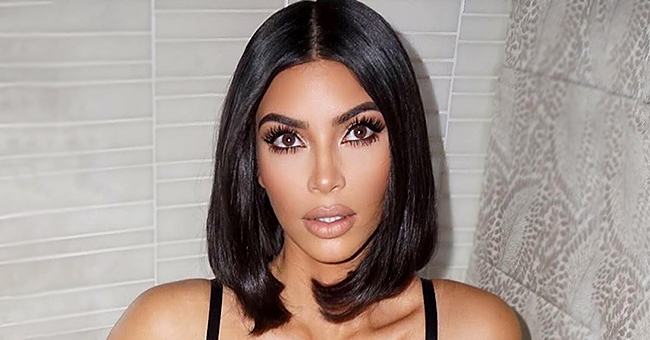 Kanye West's Wife Kim Kardashian Flaunts Models Black Bodysuit for Her New Skims Shapewear Line