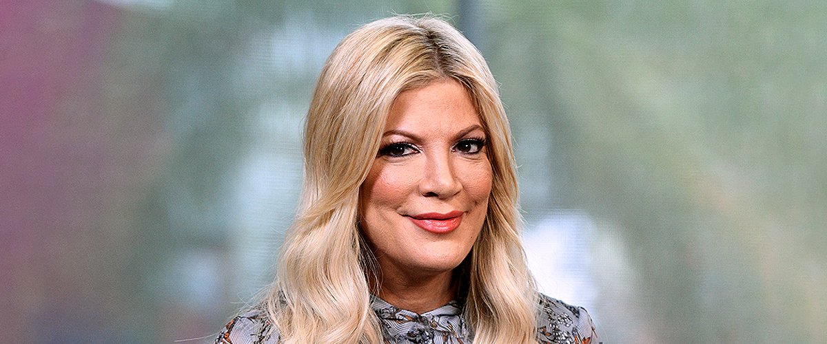 Tori Spelling Poses with Her Husband and Children at an Event Which Makes Her the 'Coolest Mom'