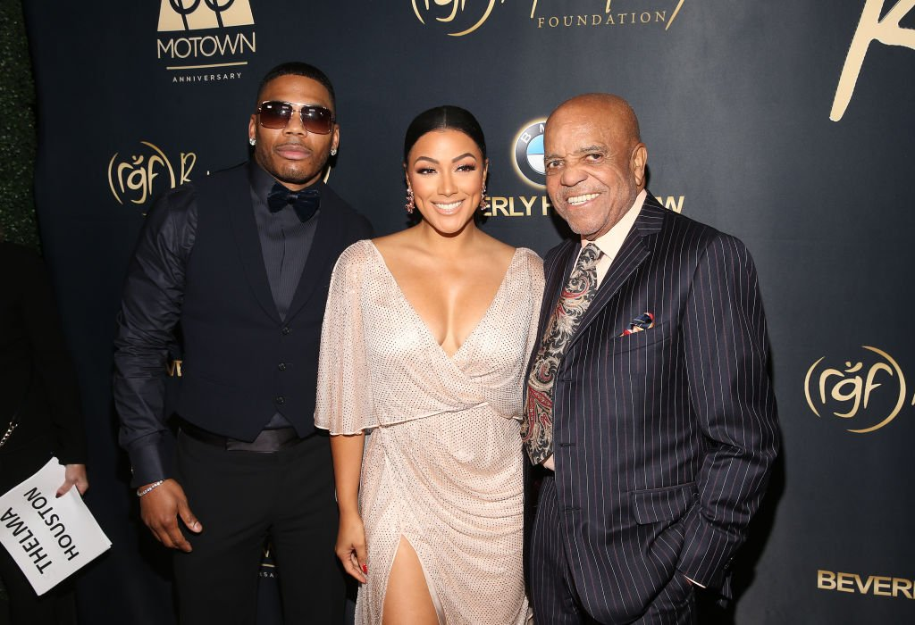 "Nelly, Shantel Jackson and Berry Gordy attend the Ryan Gordy Foundation's ""60 Years of Motown"" celebration in November 2019 
