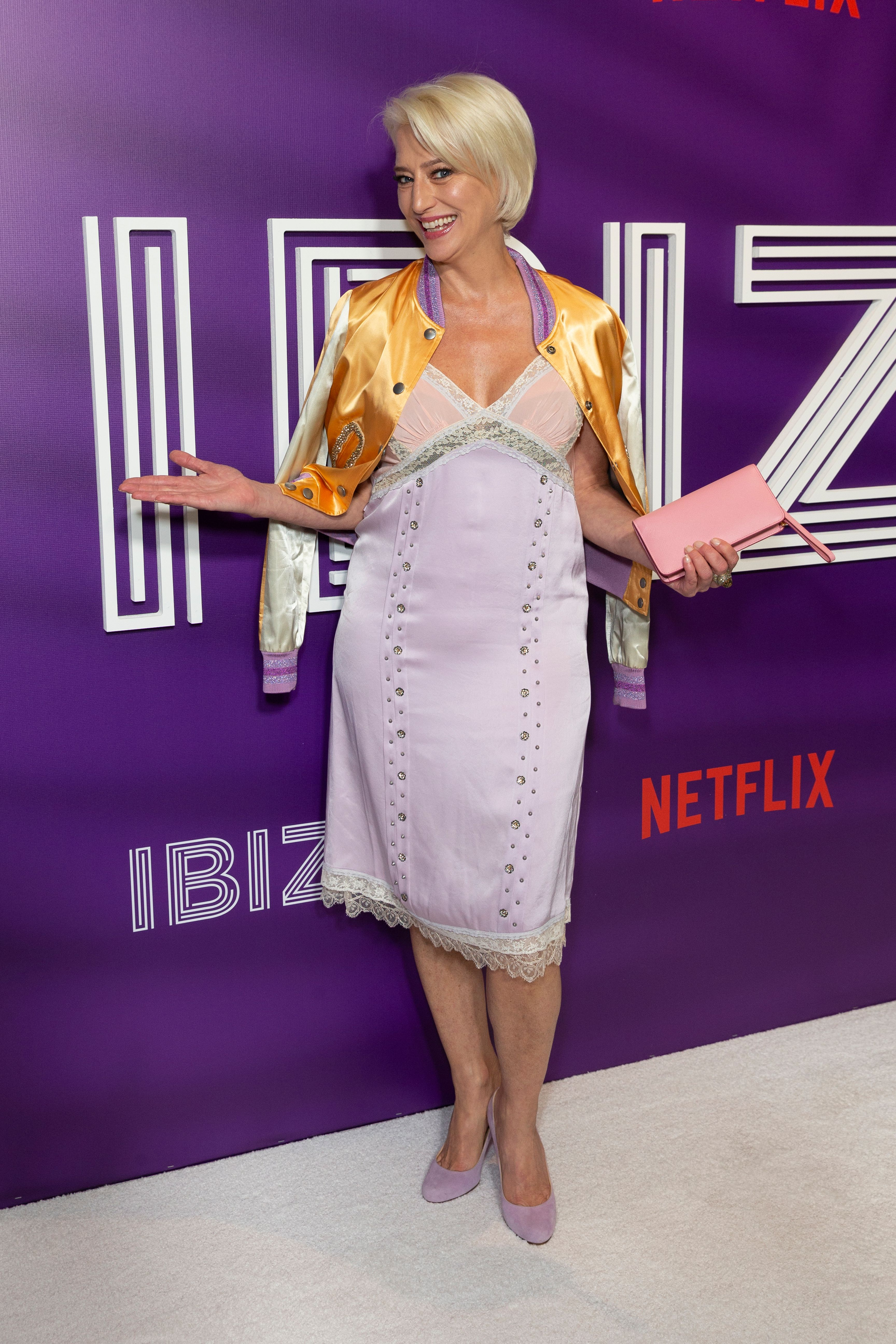 """Dorinda Medley at the screening of Netflix film """"Ibiza"""" in New York City in 2018 
