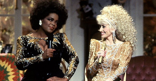 "Oprah Winfrey and Dolly Parton on ""The 'Dolly Show"" in 1987 