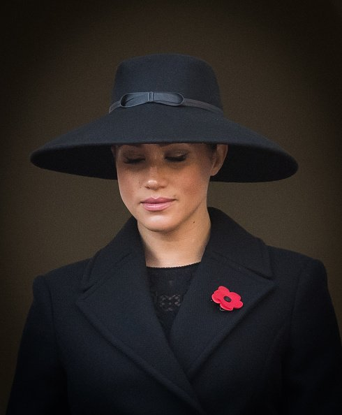 Duchess of Sussex at the annual Remembrance Sunday memorial at The Cenotaph on November 10, 2019 in London, England. |Photo:Getty Images